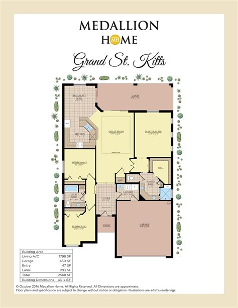 medallion homes floor plans grand st kitts model at 8033 waterbury way