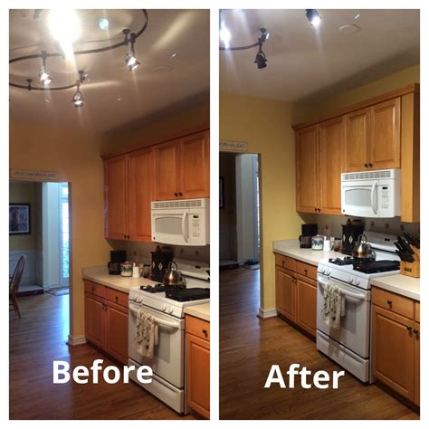 kichen light led lights replace halogens in kitchen update energy