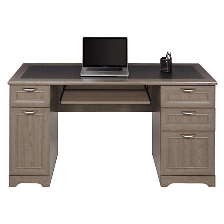 Realspace Magellan Collection Managers Desk Gray By Office Office Depot Desks