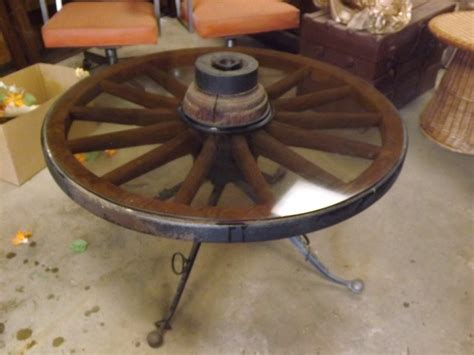 antique wheels for coffee table authentic antique wagon wheel coffee patio cocktail table