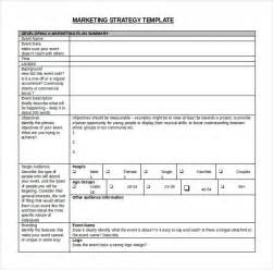 Marketing Plan Template Microsoft by 10 Strategy Templates Microsoft Word Free Free