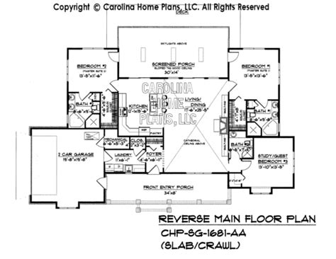 Crawl Space House Plans by Small Country Ranch Style House Plan Sg 1681 Sq Ft