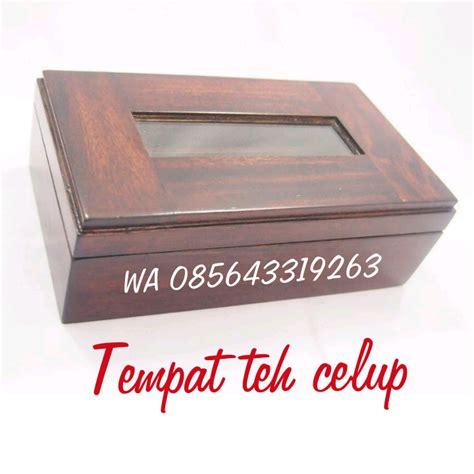 Teh Celup Kotak jual tempat teh murah harga tempat teh kayu sono keling