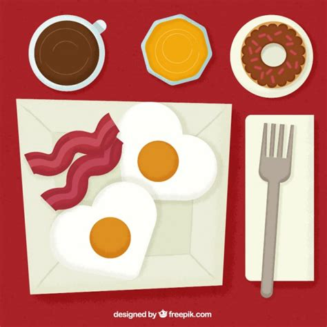 cover layout of continental breakfast tasty continental breakfast in flat design vector free