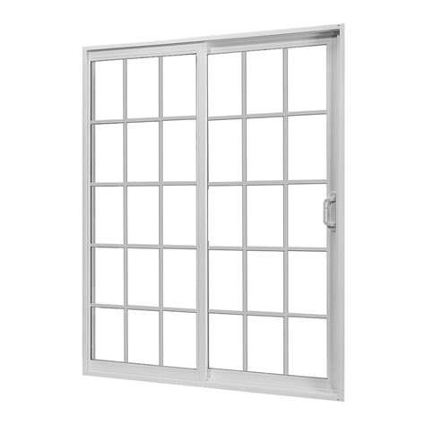 Patio Doors Home Depot Jeld Wen 60 In X 80 In V 2500 Series Sliding Vinyl Patio Door With Grids 8b8685 The Home Depot