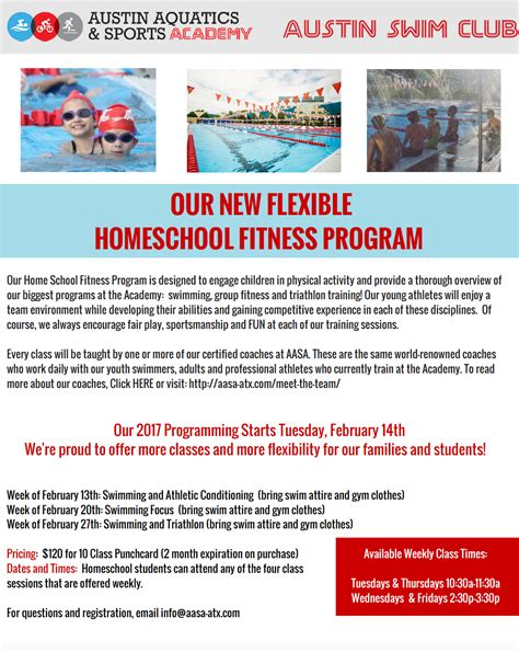 home school fitness program aquatics and sports