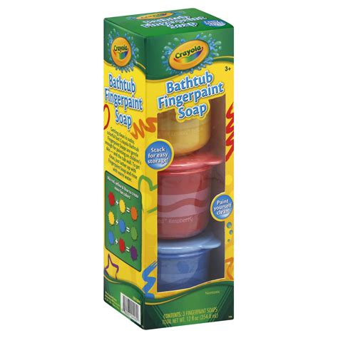 crayola bathtub paint crayola bathtub fingerpaint soap 3 jars 12 fl oz 354 8