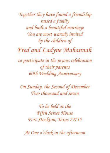 Print your own 60th wedding anniversary invitation wording