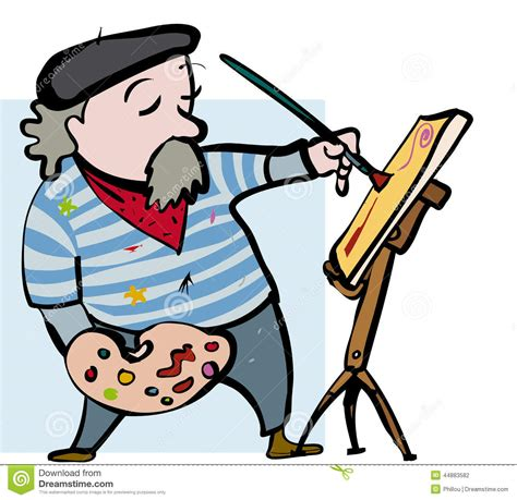 Craftsman Plans by Artist Cartoon Stock Vector Image Of Profession