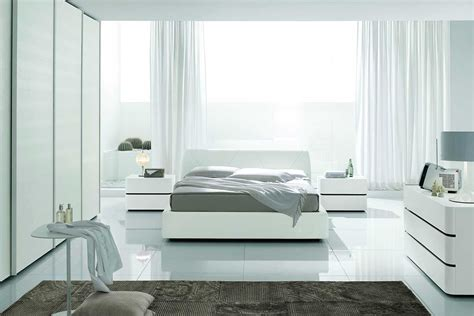 Complete Bedroom Designs Amazing Contemporary White Bedroom Sets Complete With Modern White Curtains On Large Windows