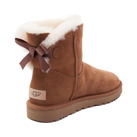 ugg boots with bows womens ugg 174 mini bailey bow ii boot brown 581629
