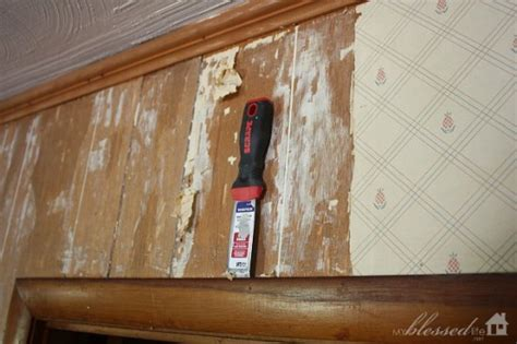 Removing Wainscoting by How To Remove Wallpaper From Paneling The Easy Way