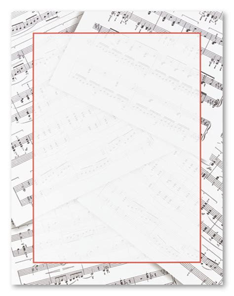 printable music stationery sheet music stationery letterhead wedding and rehearsal