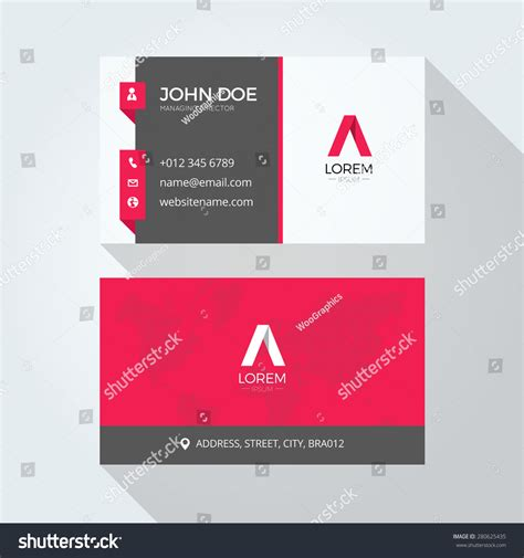 business card template us letter svg flat a letter logo business card template stock vector