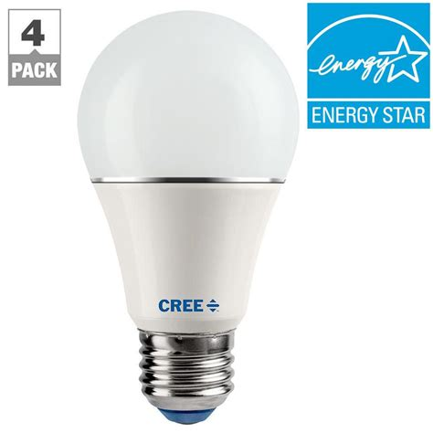 led light bulb equivalent cree connected 60w equivalent soft white a19 dimmable led