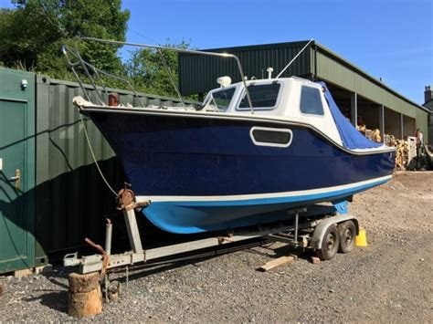 diesel speed boats for sale uk colvic seaworker 22 launch cabin fishing boat for sale