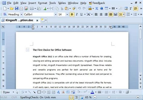 Office Free Kingsoft Office Suite For Windows Free Software