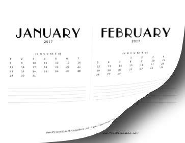 Printable 2017 Cd Case Calendar Cd Calendar Template 2017
