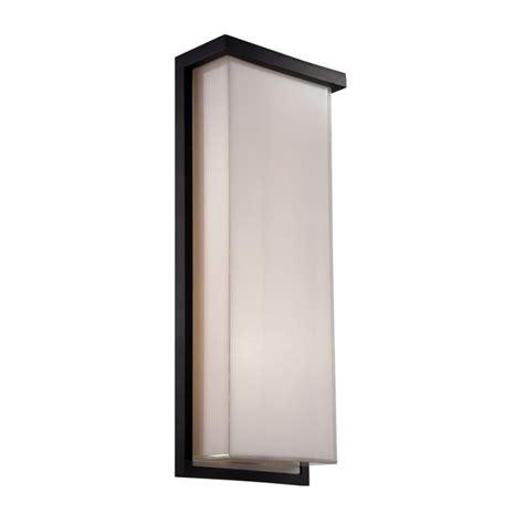 Exterior Led Wall Sconce Modern Forms Ws W1420 Bk Black Ledge 1 Light Led Ada Compliant Outdoor Wall Sconce 8 Inches