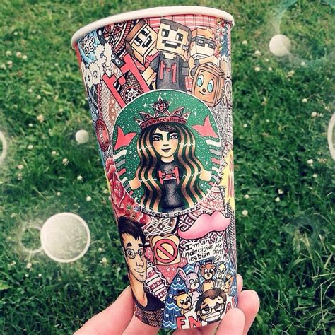 turn starbucks cups  art bored panda