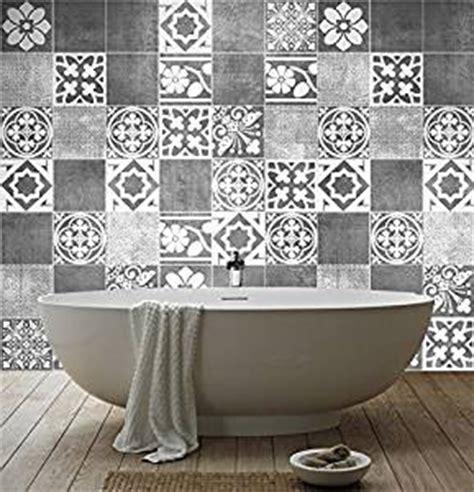 sticker carrelage d 233 co deluxe pour salle de bain pack avec 56 10 x 10 cm fr
