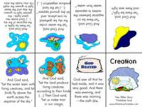 creation story for book bible story minibooks