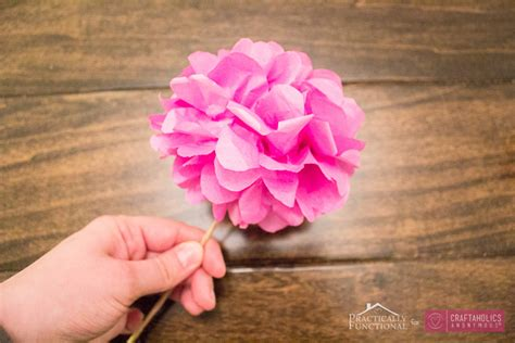 How Do You Make Flowers Out Of Tissue Paper - craftaholics anonymous 174 diy tissue paper flowers tutorial