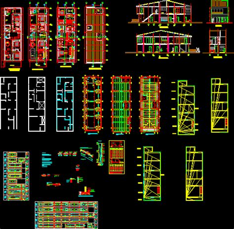 structural planes  house dwg detail  autocad