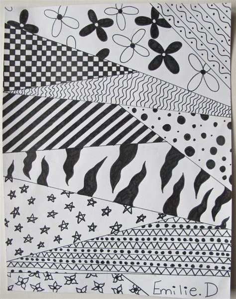 simple pattern drawings simple black and white patterns to draw