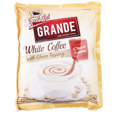 Kapal Api White Coffee Bag kapal api grande white coffee with choco topping 20 ct 400 gram ebay