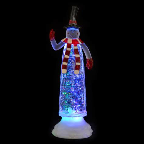 ornaments that light up colour changing led light up glitter water ornament