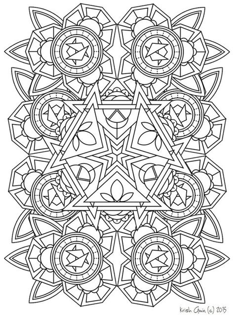 printable intricate mandala coloring pages instant