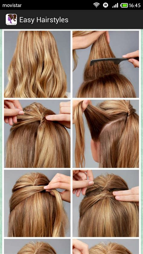 easy hairstyles for very short hair step by step simple diy braided bun puff hairstyles pictorial