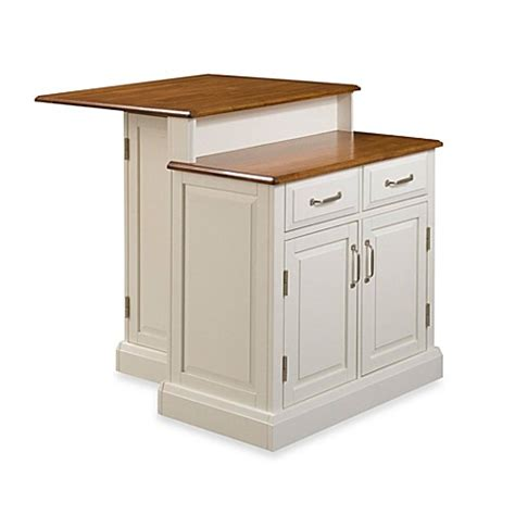 two tier kitchen island home styles woodbridge two tier kitchen island in white