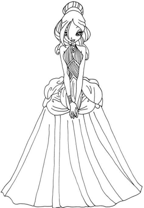 Coloriage princesse Daphné Winx à imprimer et colorier