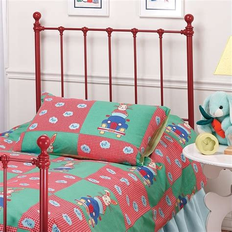 red headboard double hillsdale molly twin metal headboard in red 1087 340