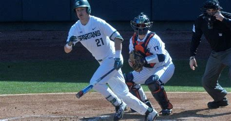 spartan baseball preview michigan state  ready  face  chippewas   colors