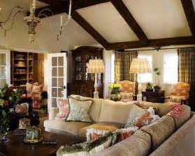 family room decor french country family room design favorite rooms pinterest vaulted ceilings exposed