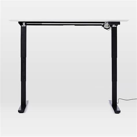 Sit Stand Adjustable Desk Mid Century Sit Stand Adjustable Desk West Elm