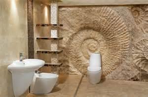 Bathrooms bathroom shell fossil tile arts international