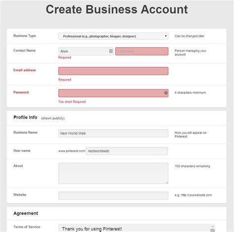 design form business 29 best images about registration interface on pinterest