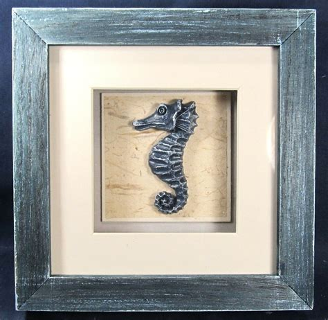 seahorse shadow box nautical sea life wall art home decor