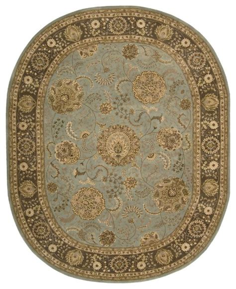 7 X9 Area Rug Traditional Nourison 2000 Oval 7 6 Quot X9 6 Quot Oval Blue Area Rug Traditional Area Rugs By Rugpal