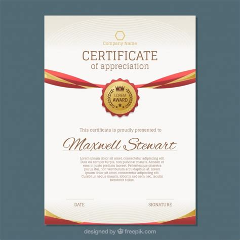 graphic design graduate certificate online luxury certificate with gold and red details vector free