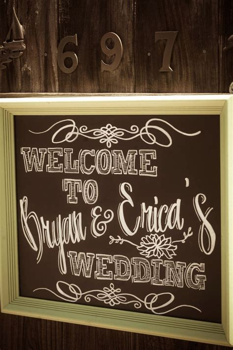 diy chalkboard writing wedding welcome sign our wedding signs