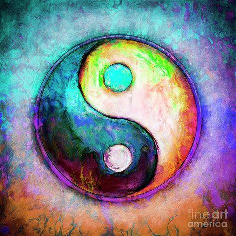 colorful yin yang yin yang colorful painting v digital by dirk czarnota