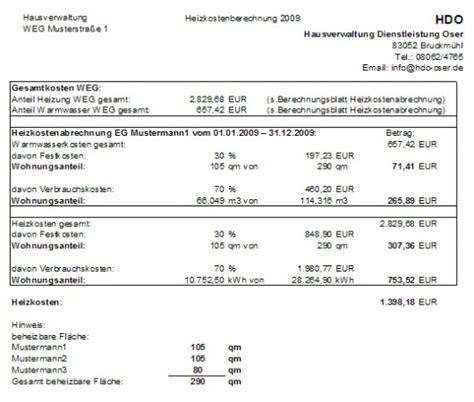 Muster Rechnung über Haushaltsnahe Dienstleistungen Musterabrechnung