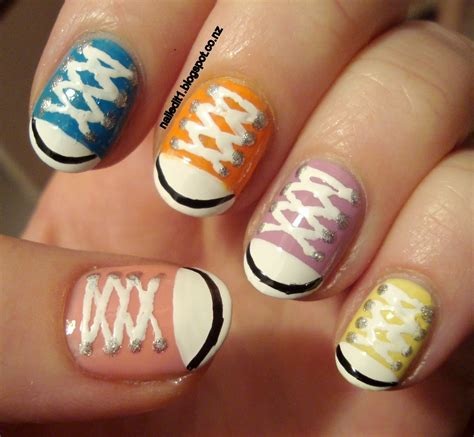 easy nail art converse converse shoes chucks take two nail art