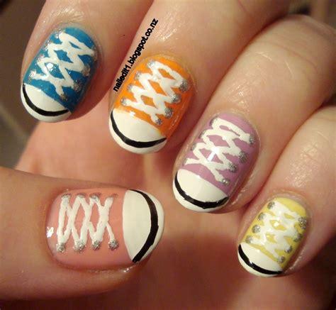 tutorial nail art converse converse shoes chucks take two nail art