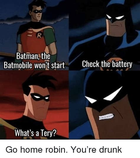 Batman And Robin Memes - 25 best memes about battery battery memes